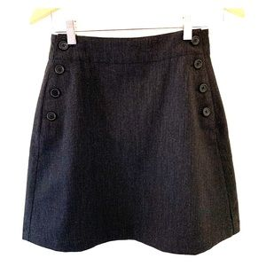Ralph Lauren wool skirt w/sailor button treatment